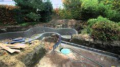 making a koi pond, koi pond construction