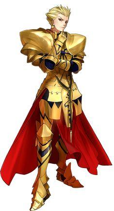 『Fate/EXTELLA』に登場するサーヴァント/ギルガメッシュ。メソポタミア神話の英雄。『人類最古の英雄王』と自称する。人類史において最も古い、『物語になった王』である。