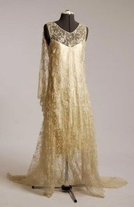 dress with silk satin slip, circa 1920s