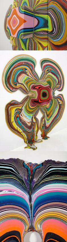 Holton Rower's pour paintings.
