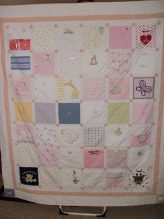 baby clothes quilt I wish I'd saved my daughter's things for an eventual grandchild.