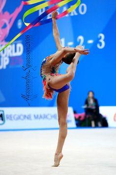 Dina Averina (Russia) won silver in ribbon finals at Grand Prix (Brno) 2016