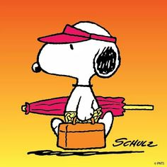 Snoopy. ..just another wonderful day!