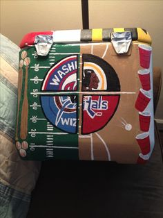 Washington sports painted cooler for formal