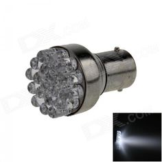 1156 / BA15S / P21W 0.7W 80lm 19-LED White Car Steering Light / Backup Light / Turn Lamp - (12V)
