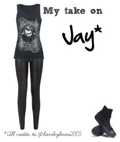 """Jay"" by lunalynch13 ❤ liked on Polyvore featuring JDY and Converse"