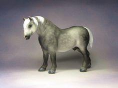 Custom CM Breyer Stablemate Horse G1 Drafter to Percheron x L. Elkjer*******