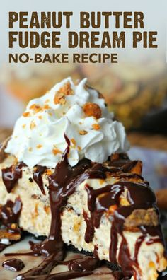 Who could resist the crispety, crunchety, peanut-buttery taste of this Peanut Butter Fudge Dream Pie. Filled with cream cheese, peanut butter, fudge topping, whipped topping, and Butterfinger® candy bars atop a chocolate cookie crust, this easy no-bake dessert recipe is a no-brainer. Click here to learn more.