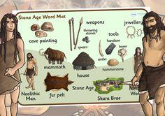 KS2 The Stone Age- Stone Age Word Mat