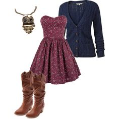 in love with this dress. but hate fake cowgirl boots lol Dress Outfits, Dress Up, Cute Outfits, Fashion Outfits, Dress Boots, Country Dresses, Country Outfits, Country Fashion, Country Chic