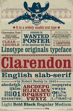I found this poster that's all about Clarendon, maybe we can incorporate something from it in our display