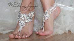ivory beach shoes, bridal sandals, lariat sandals, wedding bridal, bellydance, wedding shoes, summer wear, handmade