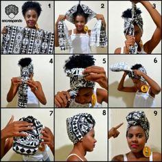 A turban always looks good! A turban always looks good! Natural Hair Tips, Natural Hair Styles, Hair Wrap Scarf, Hair Scarfs, Head Scarf Styles, Scarf Head, Pinterest Hair, Scarf Hairstyles, Hairstyles Videos
