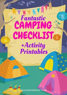 Use this camping checklist for your next family camping trip!