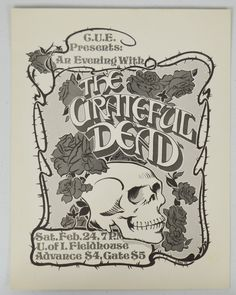 Buy online, view images and see past prices for Grateful Dead 1973 University of IA Concert Poster. Invaluable is the world's largest marketplace for art, antiques, and collectibles. Festival Posters, Concert Posters, Music Posters, Phil Lesh And Friends, Grateful Dead Poster, Black And White Posters, Black White, Jerry Garcia Band, Golden Spike