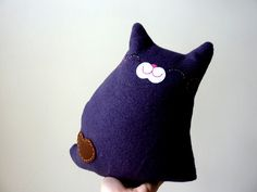 Cat Plush - Kitty Indigo. $25.00, via Etsy.