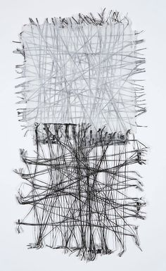 Jennifer Davies / Thread Study x handmade paper Textile Fiber Art, Textile Artists, Textiles, Stitching On Paper, Tableau Design, Motif Floral, Black And White Abstract, Weaving Art, Fabric Manipulation
