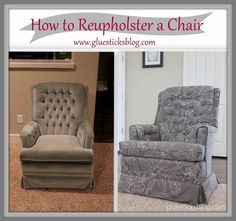 How to Reupholster a Swivel Rocker Chair