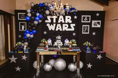 A Star Wars Birthday can be a pretty difficult thing to plan. Star Wars Party Decorations, Birthday Decorations, Birthday Party Themes, Theme Star Wars, Star Wars Baby, Birthday Star Wars, Happy Birthday B, Decoracion Star Wars, Aniversario Star Wars