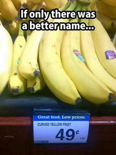 """""""Hey...what's that yummy-looking thing you got in your hand there?"""" """"Um, curved yellow fruit."""""""