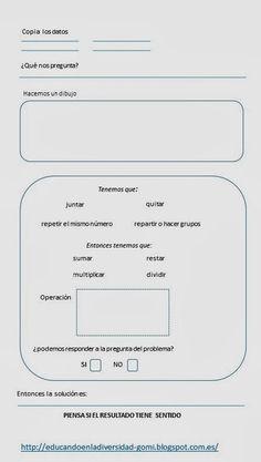 Autoinstrucciones para resolver problemas de matemáticas | Matemáticas para alumnado con dificultades de aprendizaje | Scoop.it Spanish Anchor Charts, Best Teacher, Primary School, Grade 1, Teaching, Education, Maths, Twitter, Teaching Supplies