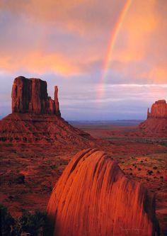 Rainbow in Monument Valley - Arizona