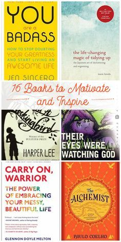 A great list of inspirational/motivating books for the new year! Some fiction, some non (I'm not always in the mood for nonfiction so this is great). Pin to add to my library hold list!