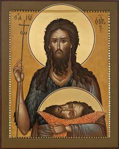 John the Forerunner Orthodox icon Religious Icons, Religious Art, Greek Icons, Church Icon, Christian Artwork, Russian Icons, Biblical Art, Byzantine Icons, John The Baptist