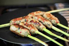 Resep Sate Lilit Batang Serai JTT Home Recipes, Grill Pan, Grilling, Pork, Food And Drink, Meat, Kitchen, Griddle Pan, Kale Stir Fry