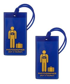 Blue Photographer Rubber Tag | Flight 001