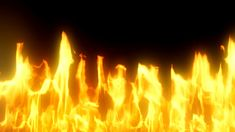 102 Dynamic gold raging fire photography&video background video material for video producer