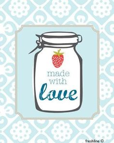 Mason jar print - cute decor for the kitchen! Or canning party :) Mason Jar Art, Mason Jar Kitchen, Mason Jar Crafts, Bottle Crafts, Kitchen Art, Cloth Paper Scissors, Mixed Media Tutorials, Canning Jars, Canning Labels