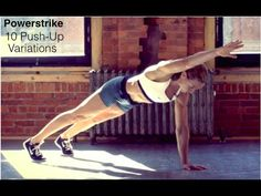 Powerstrike Fitness: Short, Intense Push-up Workout (Upper Body, Core) - YouTube