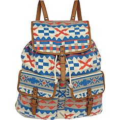 blue aztec rucksack - rucksacks - bags / wallets - men - River Island