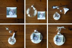 Make your own snow globe ornament
