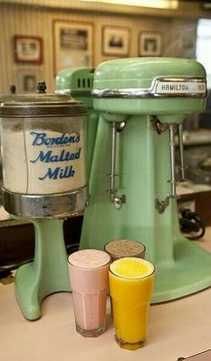 The milkshake maker just like the one at Heggy's candies don't forget the fries with a pat of butter