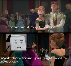 """Frozen X dont hug me im scared - """"It`s time to think creatively!"""" Creepiest video I have ever seen. Dankest Memes, Funny Memes, Hilarious, Funny Humour, Got Married, Getting Married, Dont Hug Me, Dhmis, Im Scared"""