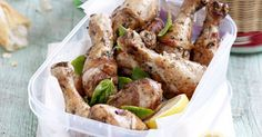 These chicken drumsticks make fabulous picnic food on hot summer days.