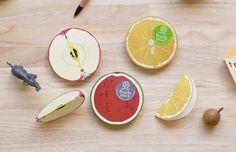 Retail product, fruits block by Ko. Machiyama, via Behance