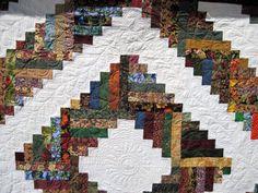 Lap Quilt Blanket Log Cabin by KellettKreations on Etsy, $149.00