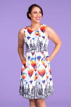 Air Balloon Print Dress | Pinup Girl Clothing