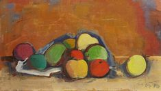 Apples In Bag. Karl Hofer