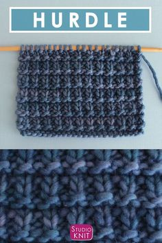 How to Knit the Hurdle Stitch with Free Written Pattern and Video Tutorial by Studio Knit. #knitting #studioknit #knitstitchpattern #freeknittingpattern