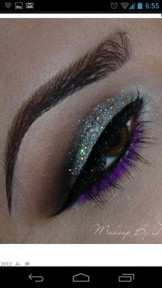 Silver glitter  eye