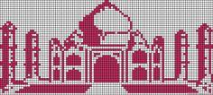 Taj Mahal perler bead pattern