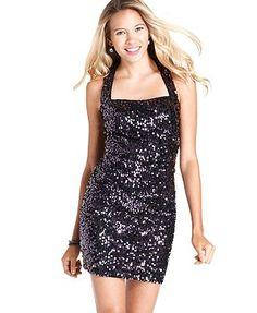 Hailey Logan Juniors Dress, Sequin - Juniors Dresses - Macy's