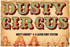 Resultado de imagen para circus typography