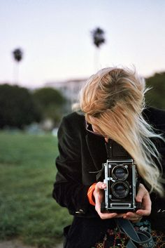 Girls With Vintage Cameras