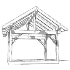 A 12x14 DIY framing plan and blueprints that can be an open pergola or gazebo. The timber frame construction can be enclosed for a shed or workshop.
