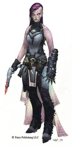 Android Priestess. From the cover art to Pathfinder RPG Adventure Path 85 by Wayne Reynolds.